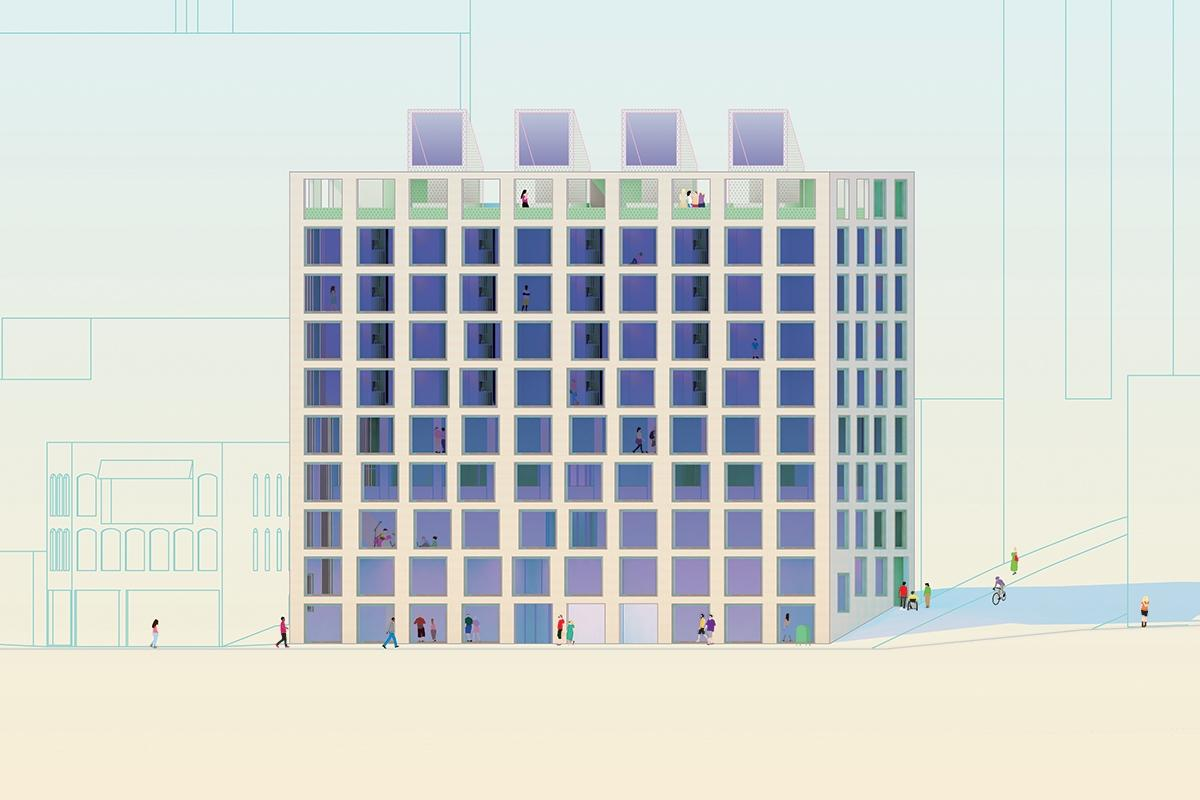 Mixed Use, No  3, Housing and Art Foundation | MOS